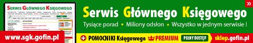 Serwis Głównego Księgowego - tysiące porad, miliony odsłon ! www.sgk.gofin.pl