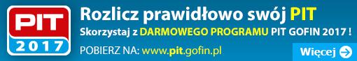 PIT 2017 - Rozlicz prawidłowo swój PIT, skorzystaj z darmowego programu PIT GOFIN 2017 !